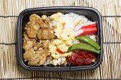 Chicken Toriyaki Rice In Plastic Box