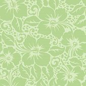 picture of hibiscus  - Tropical Hawaiian hibiscus floral seamless pattern  - JPG