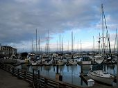 Boats docked at Marina