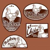 Chicken meat vintage