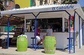 Beach bar, Malaga.