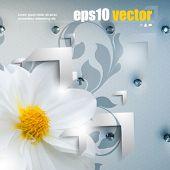 eps10 vector elegant futuristic flower background