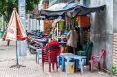 Typical street vendor, Vietnam.