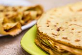 picture of crepes  - Fresh pancakes on plate - JPG