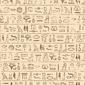 foto of hieroglyph  - Egyptian Hieroglyphics Background - JPG