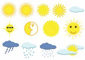 Illustration of weather elements poster