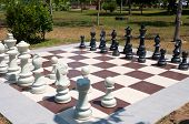 Large Outdoor Chess In The Park