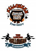 Halloween holiday invitations