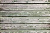 Background Consisting Of Weathered Green Grey Boards
