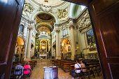Main Altar Of Baroque Church Santa Maria Della Vita