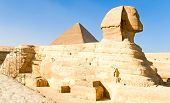 Sphinx And Khufu Pyramid