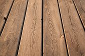 Brown Wooden Table Background Texture With Perspective Effect