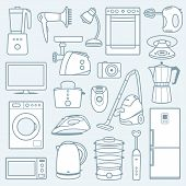 Home appliances a background