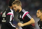 BARCELONA - MAY,11: Asier Illarramendi of Real Madrid during the Spanish Kings Cup match against UE Cornella at the Estadi Cornella on May 11, 2014 in Barcelona, Spain