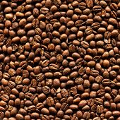 Closeup Of Delicious Roasted Aromatic Arabica Coffee Beans