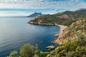 Bussaglia Beach On West Coast Of Corsica