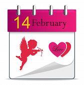 Vector calendar with angel