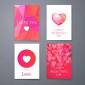 Valentine's Day Invitation. Typography Poster. Geometric Pattern Background