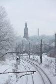 Photo Of Railroad In Winter