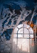 Frost On The Window Of The Chapel