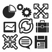 Set Of Interface Web And Mobile Icons. Vector.