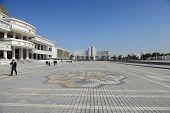 Ashgabad, Turkmenistan - October, 10 2014: Central Square Of Ashgabad In October, 10 2014. Turkmenis