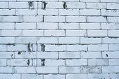 foto of mortar-joint  - New white brick wall with rich texture - JPG