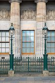 foto of neo-classic  - The facade of the National Gallery in Edinburgh - JPG
