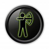 Icon, Button, Pictogram Archery