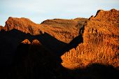 Alpine landscape in Parque Natural de Pilancones, Gran Canaria, Spain