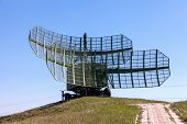 Military Russian Radar Station Against Blue Sky