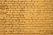 Texture Of Old Yellow Brick Wall