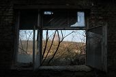 pic of cold-war  - Abandoned building in the area of the former Soviet military base in Milovice - JPG