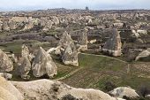image of goreme  - Cappadocia Mountain landscape near town Goreme Turkey - JPG
