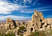 Cappadocia, Rock formations in Goreme National Park, Turkey.