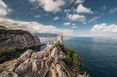 Decorative Swallow's Nest castle overlooking the Black Sea.