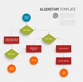 Abstract algorithm vector template with flat design