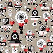 Pattern Amusing Lovers Robots