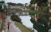 Mercatale Bridge In Prato, Italy