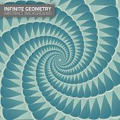 Infinite geometry. Fractal background.