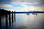Sailboats on Lake Champlain