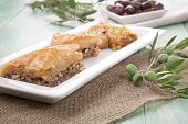 picture of baklava  - Mediterranean traditional pastries  - JPG