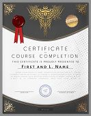 picture of macrame  - Gift vintage certificate of education completion as award on paper for graduate of student in vector - JPG