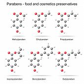 Parabens -  Preservatives, 3D Models