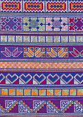 Thai Hill Tribe Mountaineer Pattern Fabric.