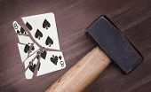 Hammer With A Broken Card, Eight Of Spades