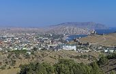 Small Resort Town In Crimea.
