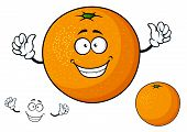 Постер, плакат: Cartoon funny juicy orange fruit