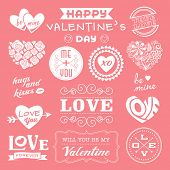 Valentine's day labels, icons and design elements collection