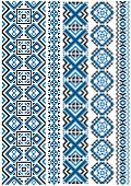 Ethnic embroidery seamless floral pattern